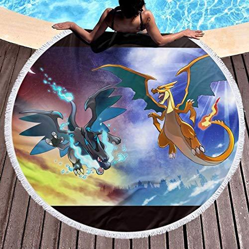 Po-ke-mon-Mega-Charizard Toalla de baño para niños, súper absorbente, de secado rápido, para gimnasio, camping, piscina, baño