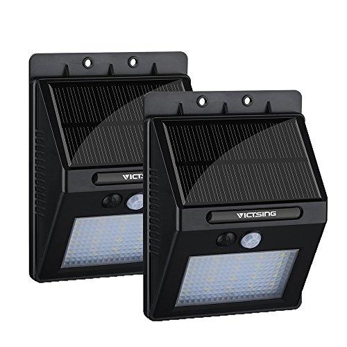 VicTsing 2 STK 20 LED Solarleuchten mit Bewegungsmelder 400lm Drahtlose Wasserdicht Solarlampe Wandleuchte Außenleuchte für Garten, Außen, Auto On/Off