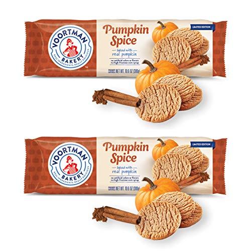 Voortman Bakery (2) Packs Pumpkin Spice Cookies - Limited Edition Baked with Real Pumpkin - Halloween/Fall Net Wt. 10.6 oz each