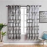 ZLYYH Cortinas Enrollables Creatividad geometría triángulo 229x229cm Cortinas opacas para dormitorio - Cortinas de habitación con aislamiento térmico de ojales para sala de estar, juego de 2 paneles