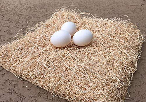 My Favorite Chicken Nesting Pads | Natural Excelsior Aspen Fiber Poultry Bedding Nest Liner | 13 x 13 Inches | Pack of 10