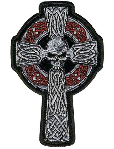 Motorcycle Biker Uniform Patch 11' x 7' Celtic Knot Cross with Skull