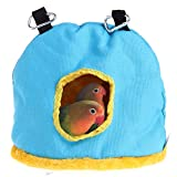 Winter Warm Bird Hut Nest House Bed Hammock Toy for Parakeet Grey Amazon Eclectus Medium Large Parrot Cage Perch Stand