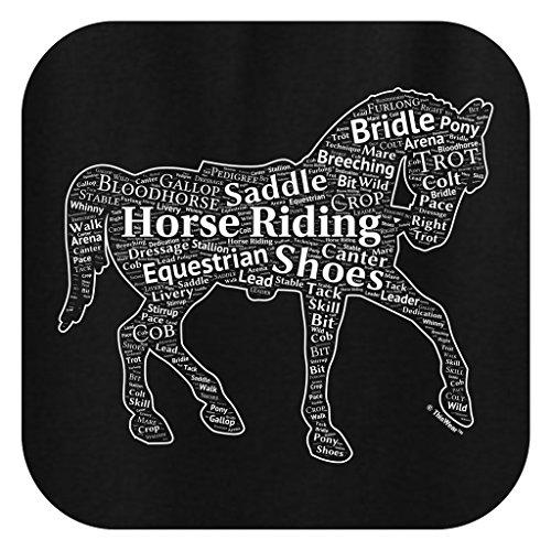 Equestrian Equipment Horseback Word Collage Equestrian Horse Gift Ladies T-Shirt XL Black
