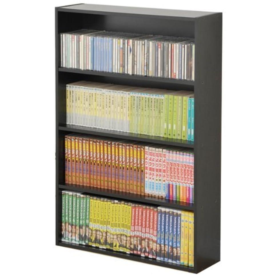 つらいかすかなラッドヤードキップリング山善(YAMAZEN) マンガぴったり本棚カラーボックス ブラック CDCR-9060(BK)