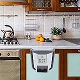 TAECOOOL Papelera plegable para colgar en la cocina, para el hogar, reciclaje, plástico, plegable, para la cocina, el baño, la oficina y el coche (blanco)