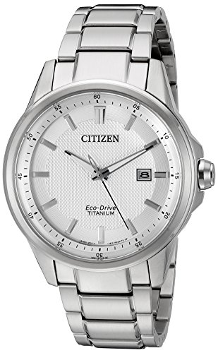 Citizen Men's AW1490-50A Eco-Drive Stainless Steel Day-Date Silver Tone Watch