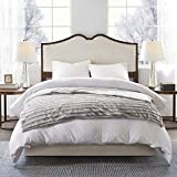 Beautyrest Duke Weighted Adult, Faux-Fur, Glass Beads Filling, and Removable Cover Calming Heavy Blankets, 60x70-18lbs, Grey
