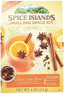 Spice Islands Classic Cider Blend (Mulling Spice Kit) with Infuser Ball