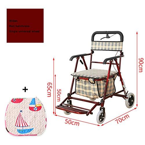 QXL-Walker rollator voor ouderen, opvouwbaar, met 4 wielen, rollators voor volwassenen, verstelbaar, draagbaar, licht, compact, oudere loophulp, revalidatie