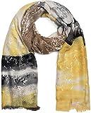styleBREAKER sciarpa da donna a righe in stile batik con stampa metallica e frange, foular...