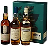 The Classic Malts Collection Pack Strong, Single Malt Whisky Pack mit Lagavulin 16, Talisker 10, Cragganmore 12 (3 x 0.2 l)
