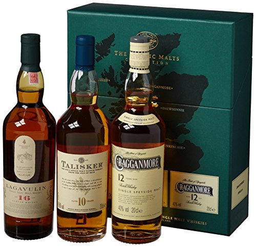 Various Distilleries - The Classic Malts Collection Strong 3 x 20cl Bottles - Whisky