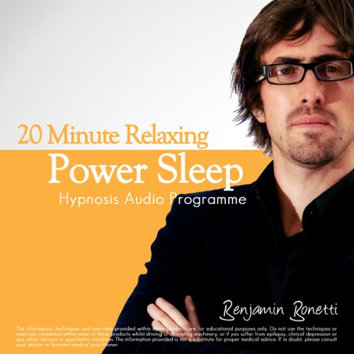 20-Minute Deeply Relaxing Sleep With Hypnosis Audiobook By Benjamin Bonetti cover art