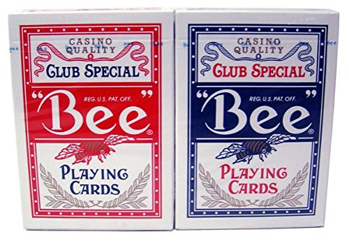 US Playing Card Co. Bee No. 92 Diamond Back Club Special Red/Blue 12 Decks