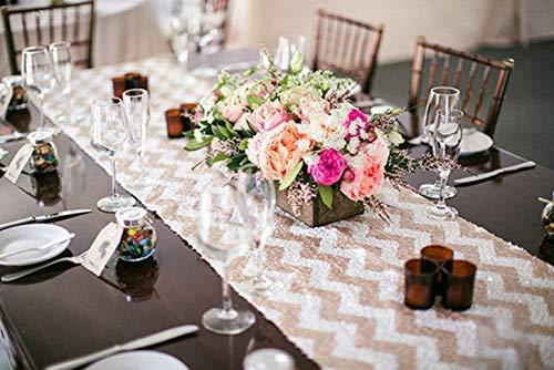 Nvfshreu Glitter zilver pailletten tafelloper 14 x 120 inch glinsterende pailletten eenvoudige stijl stof voor bruiloft evenement party tafel decoratie blouse 14 x 120 in