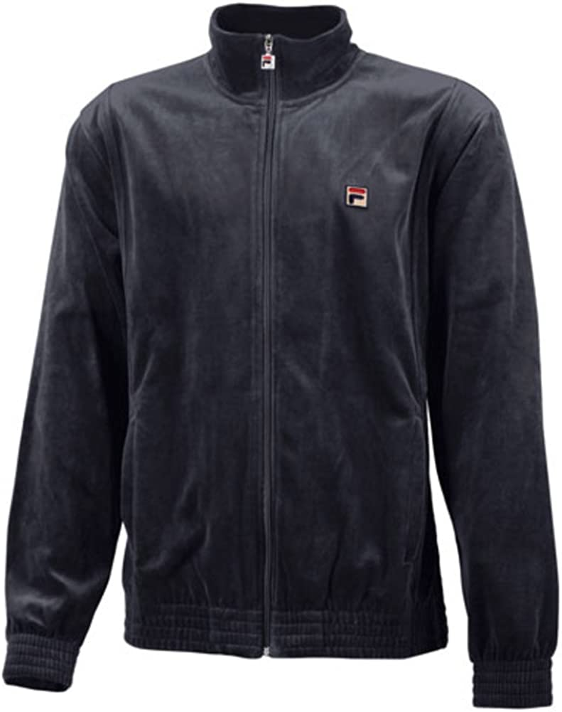 Fila Men's Full Zip Solid Velour Ebony Jacket