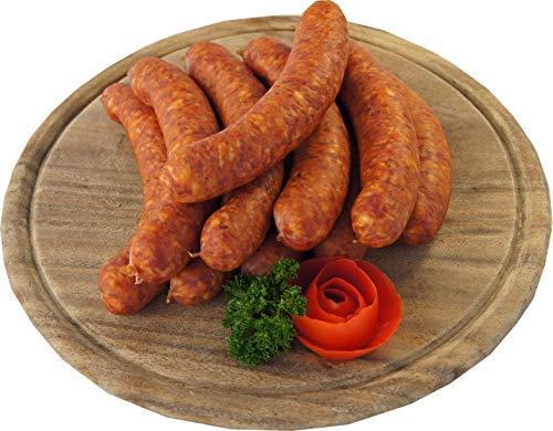 Schweineknacker mit Kümmel | Knacker | Snackwurst | Krainer Würstchen | Premium Mettwurst geräuchert | 10 x 100g