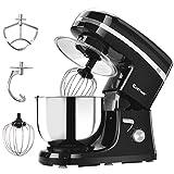 COSTWAY Tilt-head Stand Mixer 5.3Qt 6-Speed 120V/800W Electric Food Mixer with Mixer Blade, Dough...