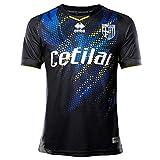 Errea MC Parma Fußball 3^MG Shop 19/20 T-Shirt für Herren L Nero Giallo/Fluo Azzurro