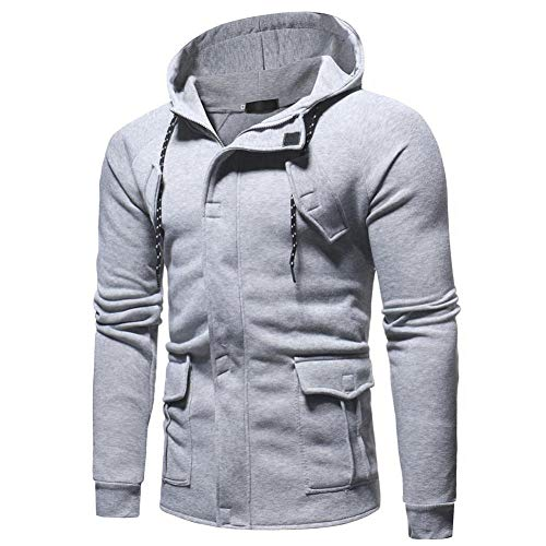 Veste à Capuche Zippée Homme Hiver,Overdose Casual Sweatshirt Sport Style Outwear Hoodie