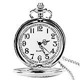Orologio da tasca con catena, classico vintage quarzo ciondoli orologi taschino per...