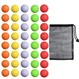 40 Pack Foam Golf Practice Balls - Realistic Feel and Limited Flight Training Balls for Indoor or Outdoor (5 Color, 8 Pack of Each Color)