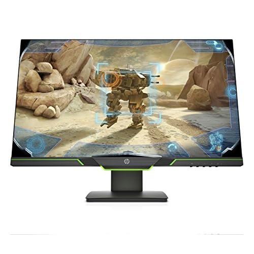 HP 27xq Monitor Gaming TN, Schermo 27 pollici  LED/QHD, Risoluzione 2560x1440, Micro-Edge, Tecnologia AMD FreeSync, Tempo di Risposta 1 ms, Frequenza 144 Hz, Regolabile in Altezza, Pivoting 90°, Nero