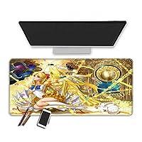 マウスパッド 30X70X0.3Cmセーラームーンアニメゲーミングマウスパッド、耐久性のあるステッチエッジ滑らかな表面特殊なテクスチャラバーベース拡張ビッグキーボードマウスパッドイージーケアオフィスマウスマットゲーマー (E)