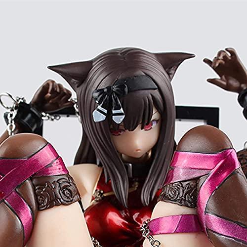 Conemmo 2 0CM Japanese Ani-Me Abrace Sexy Cat Girl Figuras CHU-Ka Na Neko & Silla CLORURO DE POLIVINILO Figura de acción Ani-Me Sexy Gril Modelo Coleccionable
