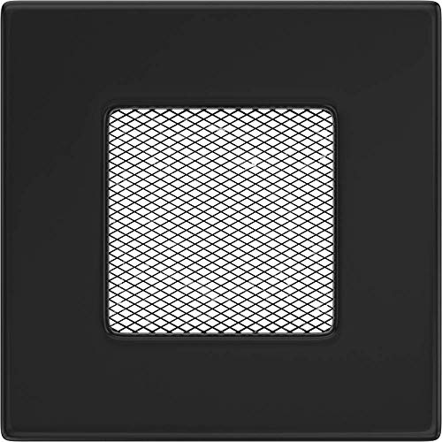 Kratki rejilla de ventilación Chimenea rejilla 17 cm x 17 cm Color Negro
