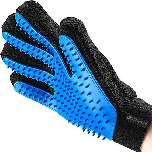 Kirando's Premium Fellpflege-Handschuh | besonders effiziente und schonende Tierhaar-Entfernung! | Reinigung, Pflege & Massage in einem Schritt für ihren Hund oder Katze!