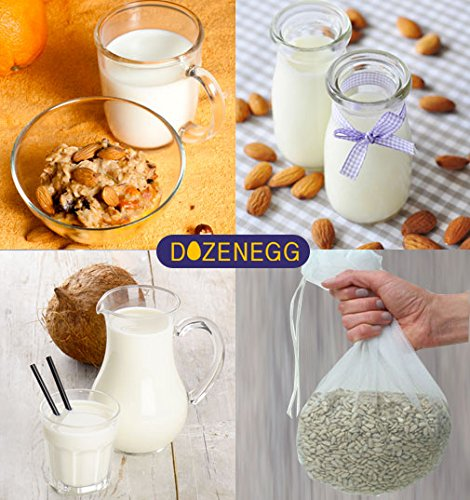Nut Milk Bag - Reusable and Durable - Food Grade- Food Strainer - Filter Bags - Fine Mesh Strainer - Mesh Filter - - Excellent Multi-purpose Kitchen Tool