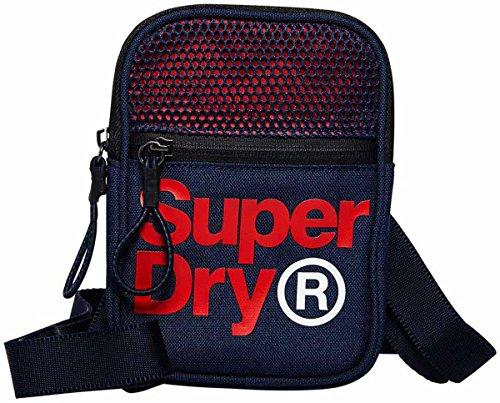 Superdry Lineman Sporttasche schwarz Gr. Einheitsgröße, marineblau / rot