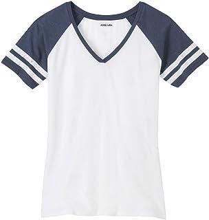 Joe`s USA Ladies Distressed Retro V-Neck T-Shirts, Sizes: XS-4XL