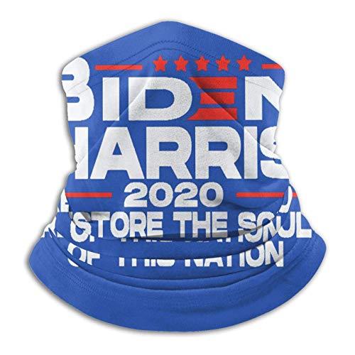 Biden Harris Restore The Soul of This Nation 2020 - Mascarilla para cuello, bandana para correr, transpirable, color negro suave