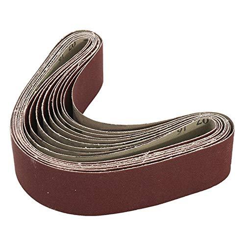 Schleifpapier bandschleifer SANDER-Befestigung 10 stücke 40 bis 1000 grit 30mm x 540mm Schleifbänder für Winkelschleifgurt schleifband (Color : 1000#)
