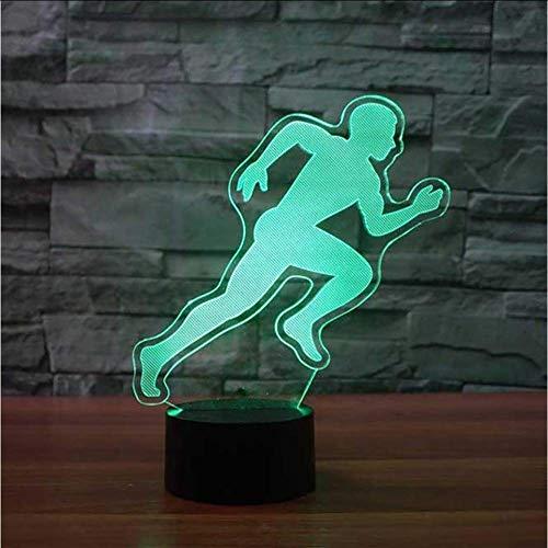 Running Action Modeling 3D tafellamp LED slaapkamer slaapkamer nachtverlichting kleurrijk licht