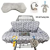 Shopping Cart Cover for Baby Cotton High Chair Cover Full Safety Harness, Machine Washable for Infant, Toddler, Boy or Girl Large (Square)