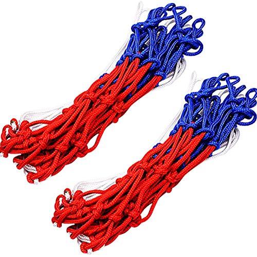 Red para Canasta de Baloncesto, 2 pcs Redes para Aros de Baloncesto Red de Repuesto con 12 Lazos para Canastas de Baloncesto
