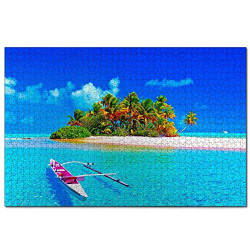 Polinesia francese Puzzle pour adultes 1000 pièces Souvenir de voyage en bois 30x20 pouces