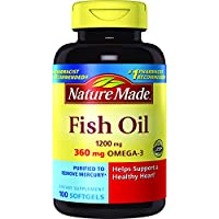 100 Count Nature Made 1200 mg Fish Oil Softgels