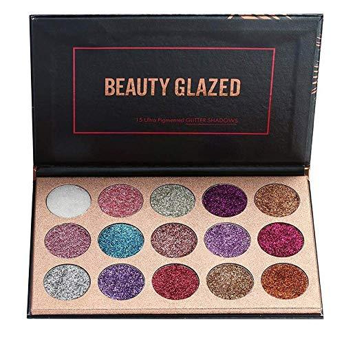 Beauty Glazed 15 Colors Glitters Eyeshadow Palette Shimmer Pigment Pressed Pallete Makeup Eye Shadow
