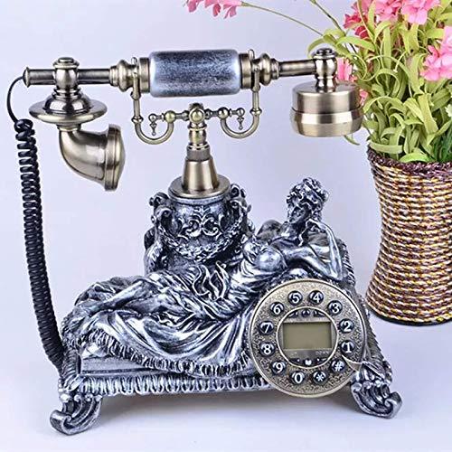 MEETGG Teléfonos Antiguos con Cable Teléfono Fijo Línea Vintage Clásico Teléfono Inicio Moda Vieja Moda Teléfonos Negocios Oficina Inicio Se USA ampliamente Línea Fija