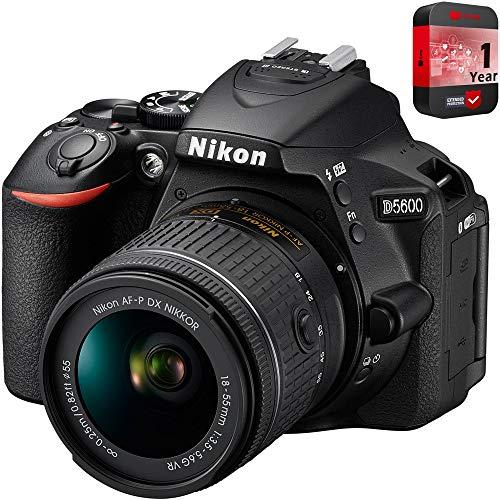 Nikon D5600 Digital SLR Camera & 18-55mm VR DX AF-P Lens -...