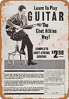 白い桜雑貨屋 看板 コカ 通販 レトロ ブリキ Play Guitar Like Chet Atkins 壁飾 アンティーク メタル レトロ 看板 販売(20x30cm)