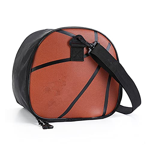 zhaoying Bolsa de baloncesto de hombro, con correa de hombro ajustable, cremallera doble, gran capacidad, adecuado para voleibol de fútbol