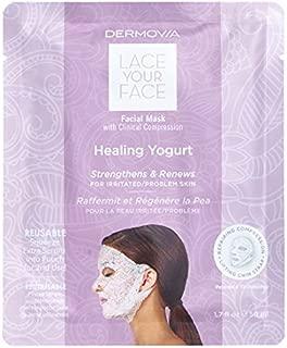 LACE YOUR FACE Compression Facial Mask - Healing Yogurt Milk - Single