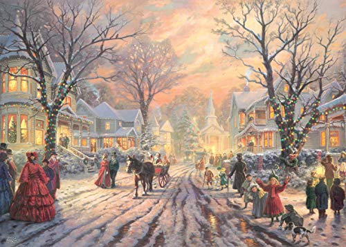 Ceaco Thomas Kinkade - A Victorian Christmas Carol Jigsaw Puzzle, 1000 Pieces