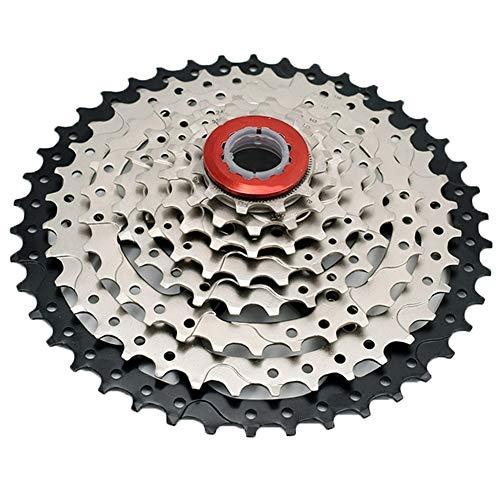 GXHLLYZY GX 8 Velocidad 11-42T por 441g MTB Casete De Bicicletas Rueda Libre Piñón 8S Bicicleta De Montaña Rueda 42T Ultraligero (Color : Black)